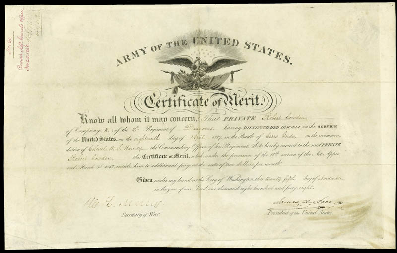 Image 1 for President James K. Polk - Document Signed 11/25/1848 co-signed by: William L. Marcy - HFSID 285775