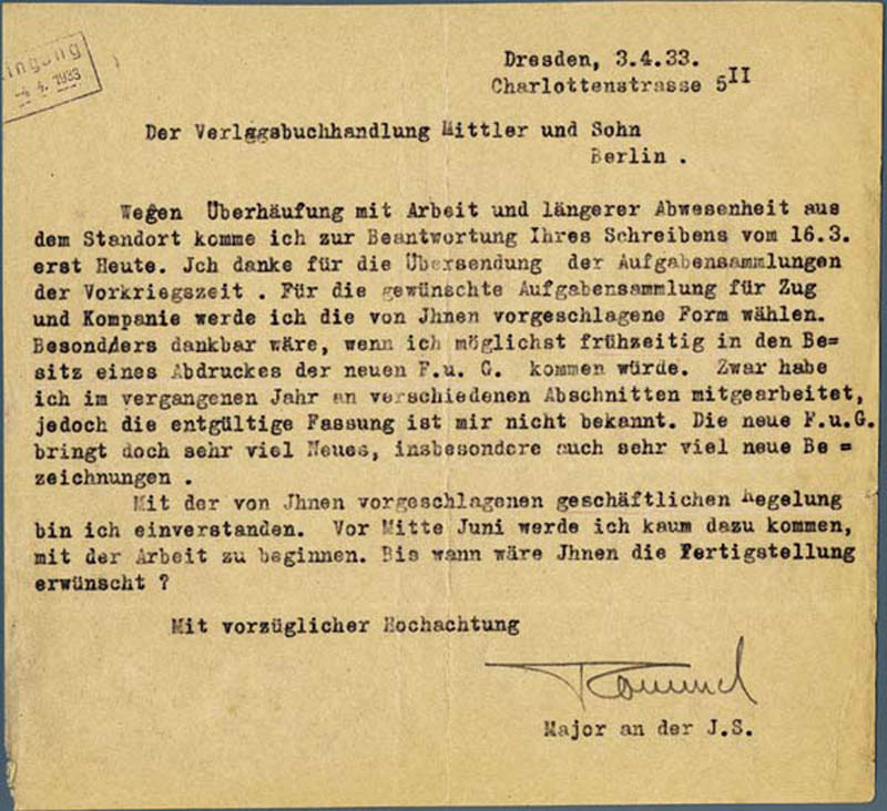 Image 1 for General Erwin 'The Desert Fox' Rommel - Typed Letter Signed 04/03/1933 - HFSID 285831