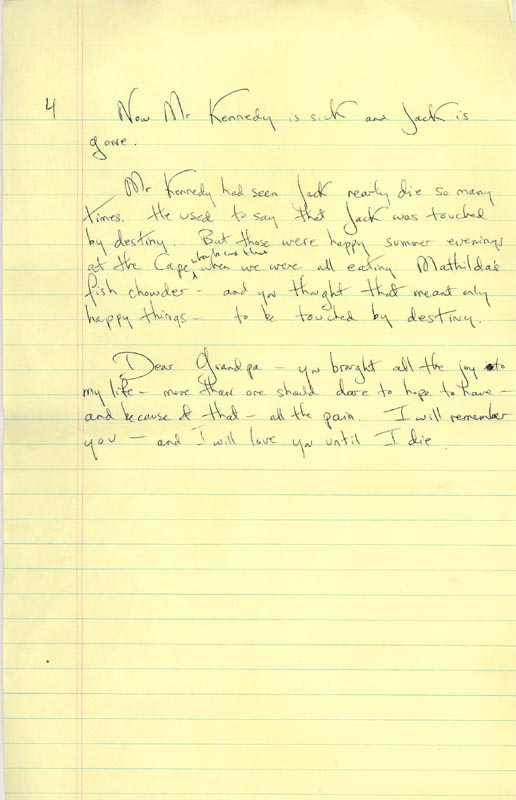 Image 1 for First Lady Jacqueline B. Kennedy - Autograph Manuscript Unsigned - HFSID 285922