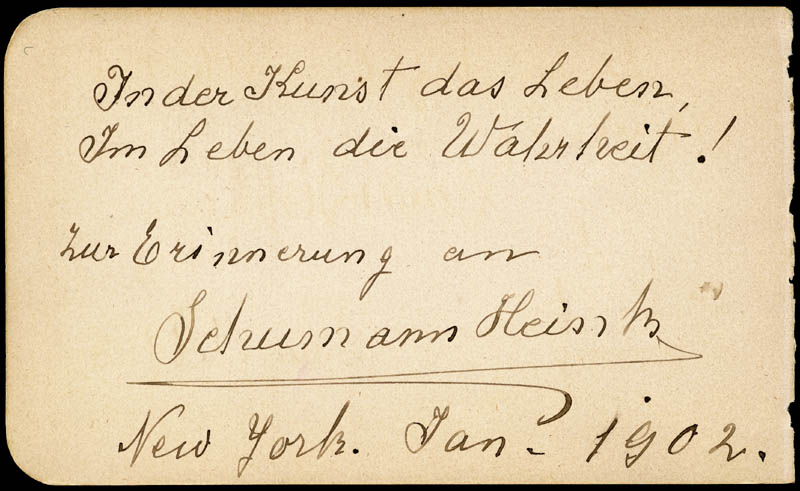 Image 3 for Edvard Grieg - Autograph Musical Quotation Signed 1890 co-signed by: Ernestine Schumann-heink - HFSID 285959