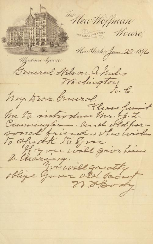 Image 1 for William F. 'Buffalo Bill' Cody - Autograph Letter Signed 01/29/1896 - HFSID 285979