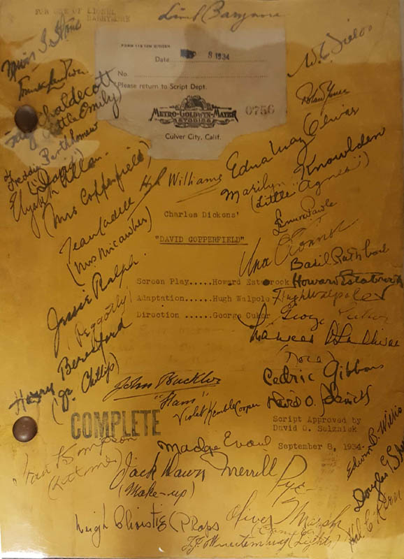 Image 1 for David Copperfield Movie Cast - Script Signed Circa 1934 with co-signers - HFSID 285981