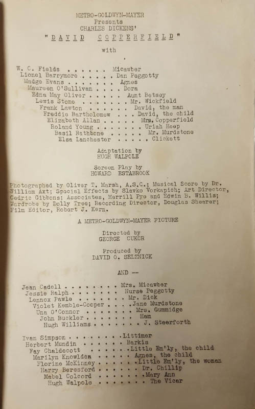 Image 3 for David Copperfield Movie Cast - Script Signed Circa 1934 with co-signers - HFSID 285981