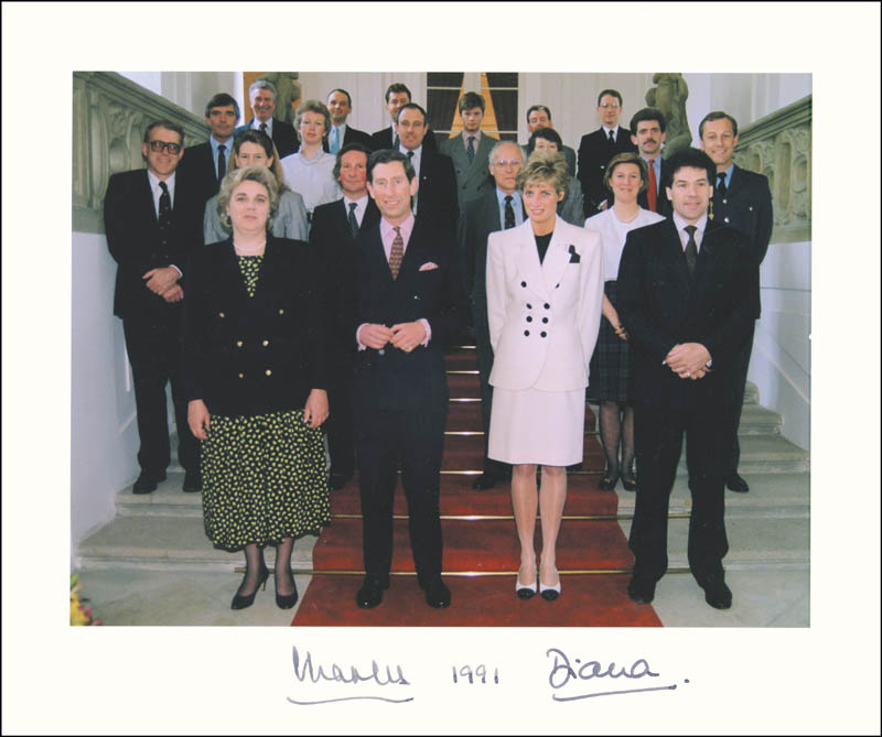 Image 1 for Princess Diana Of Wales (Great Britain) - Photograph Mount Signed 1991 co-signed by: Prince Charles Of Wales (Great Britain) - HFSID 285987