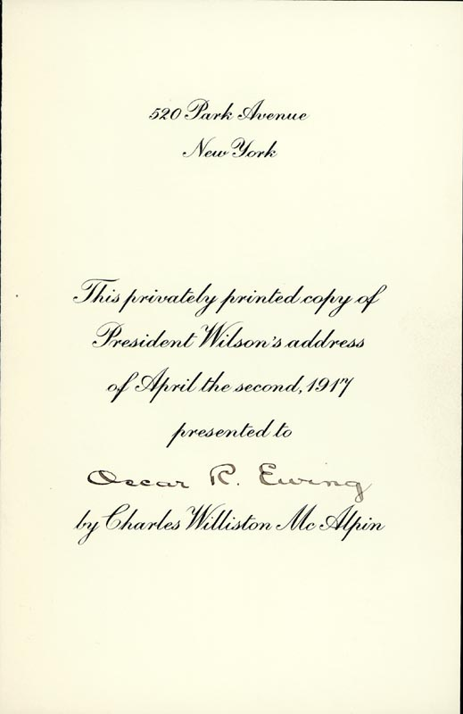 Image 5 for President Woodrow Wilson - Book Signed 08/01/1920 - HFSID 286007