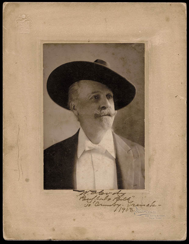 Image 1 for William F. 'Buffalo Bill' Cody - Inscribed Photograph Mount Signed 1903 - HFSID 286028