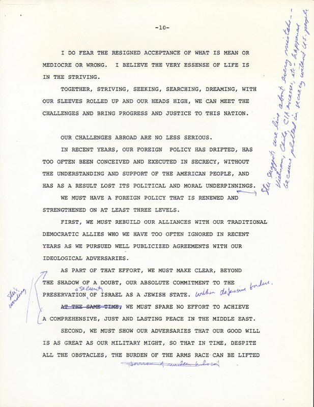 Image 7 for President James E. 'Jimmy' Carter - Annotated Speech Unsigned Circa 1976 - HFSID 286041
