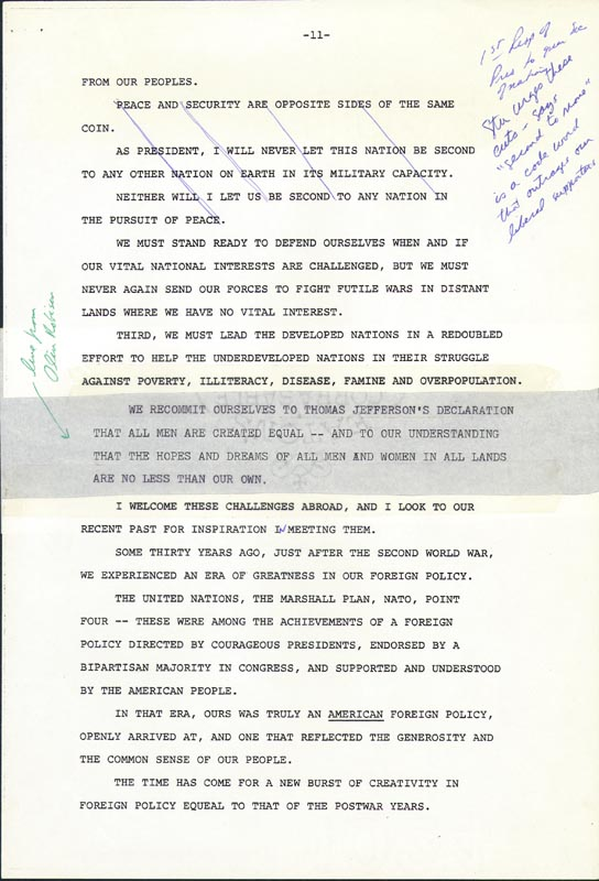 Image 8 for President James E. 'Jimmy' Carter - Annotated Speech Unsigned Circa 1976 - HFSID 286041