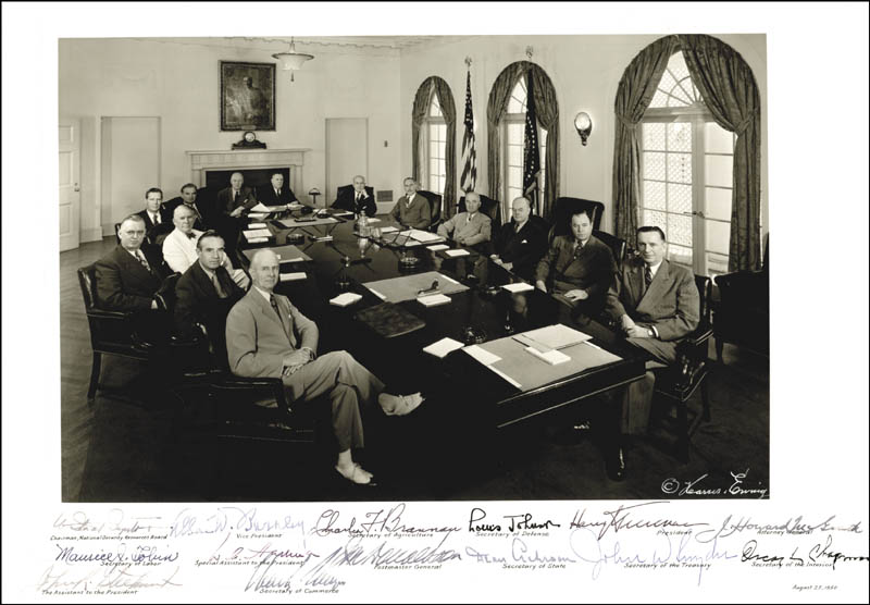Image 1 for President Harry S Truman - Autographed Signed Photograph Circa 1950 with co-signers - HFSID 286048