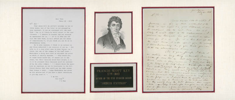 Image 1 for Francis Scott Key - Autograph Letter Signed 02/20/1815 - HFSID 286078