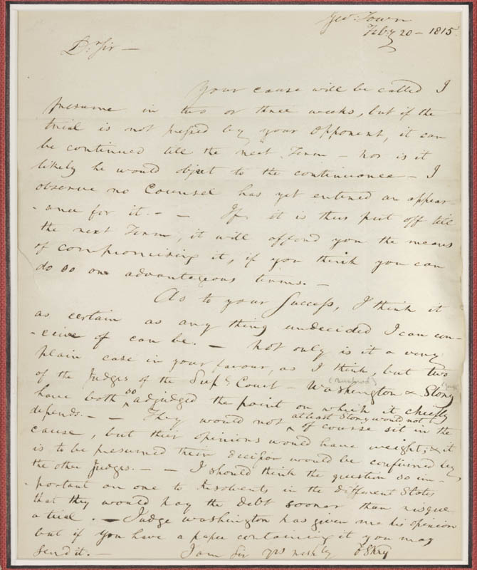 Image 3 for Francis Scott Key - Autograph Letter Signed 02/20/1815 - HFSID 286078