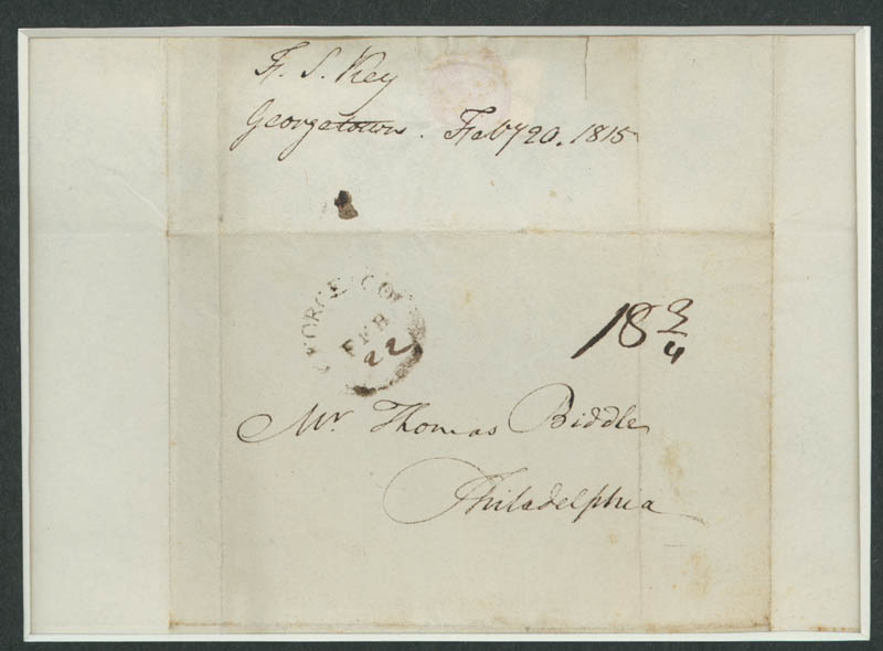Image 4 for Francis Scott Key - Autograph Letter Signed 02/20/1815 - HFSID 286078