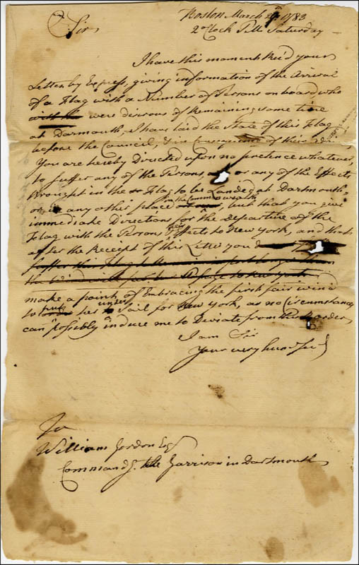 Image 1 for John Hancock - Autograph Letter Unsigned 03/27/1783 - HFSID 286082