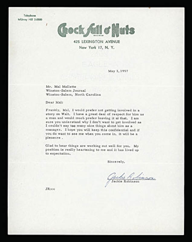 Image 1 for Jackie Robinson - Typed Letter Signed 05/01/1957 - HFSID 286085