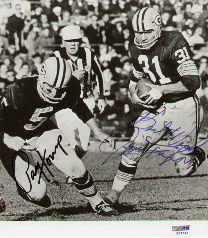 Image 1 for Green Bay Packers - Autographed Signed Photograph co-signed by: Jim Taylor, Paul V. Hornung - HFSID 286091