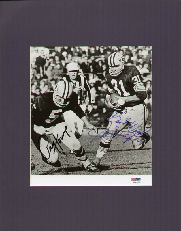 Image 3 for Green Bay Packers - Autographed Signed Photograph co-signed by: Jim Taylor, Paul V. Hornung - HFSID 286091