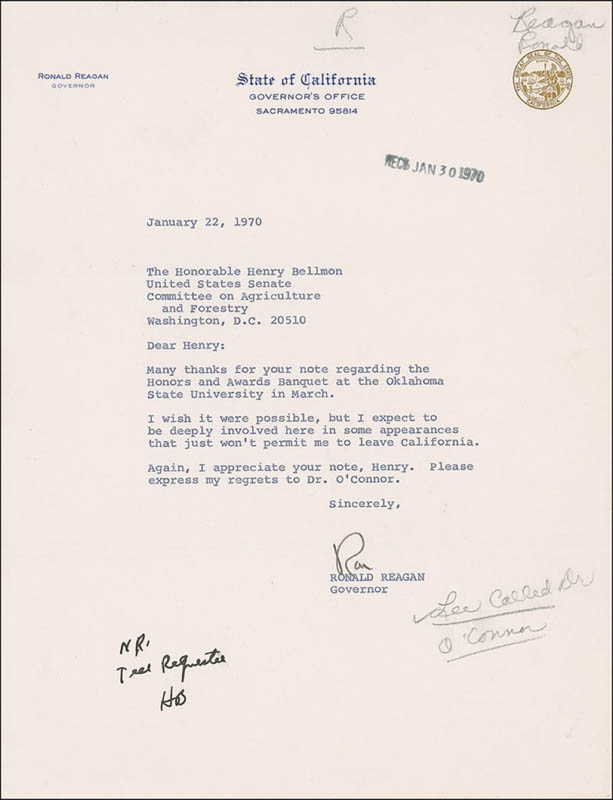 Image 1 for President Ronald Reagan - Typed Letter Signed - HFSID 286216