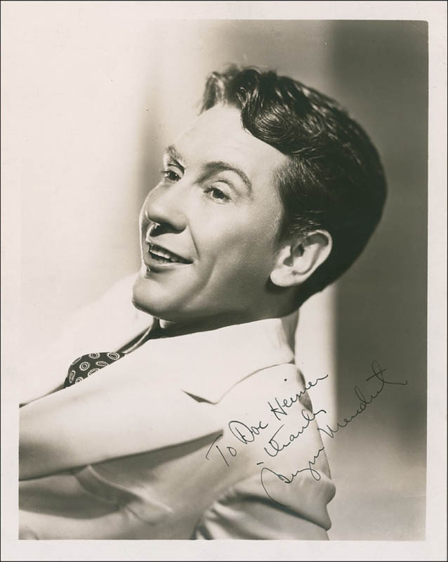 Image 1 for Burgess Meredith - Autographed Inscribed Photograph - HFSID 286243