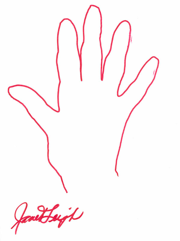 Image 1 for Janet Leigh - Hand/Foot Print Or Sketch Signed - HFSID 286376