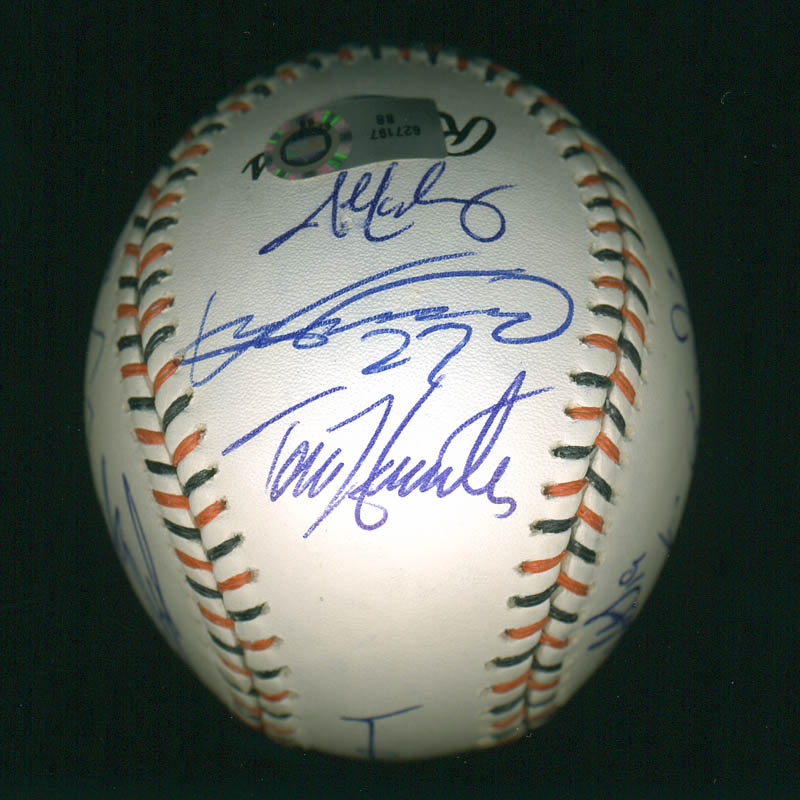 Image 4 for American League All-stars - Autographed Signed Baseball with co-signers - HFSID 286582