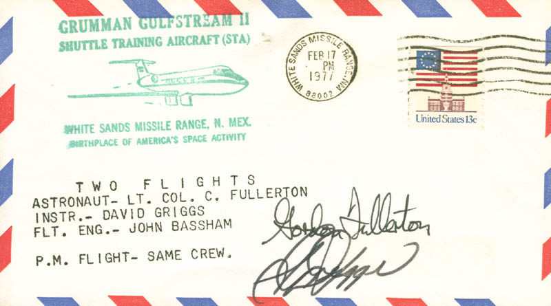 Image 1 for Colonel C. Gordon Fullerton - Commemorative Envelope Signed co-signed by: S. David Griggs - HFSID 28684