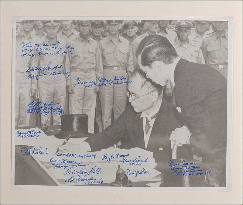Image 1 for Major General Francis W. Nye - Autographed Signed Photograph with co-signers - HFSID 286871