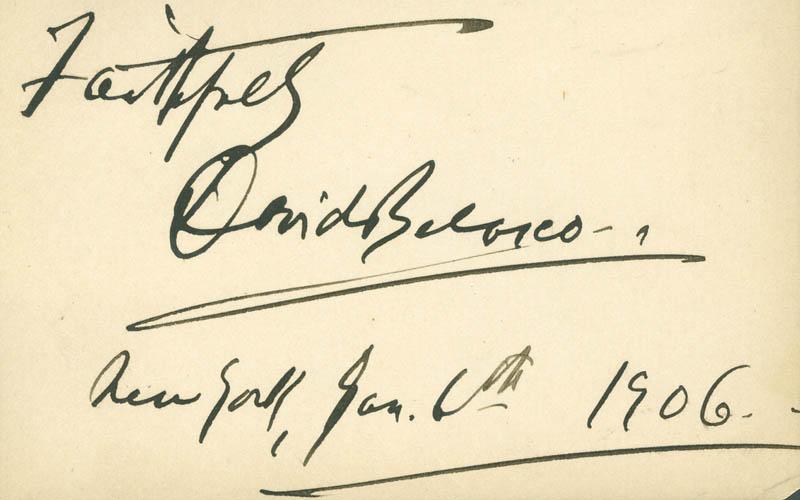 Image 1 for David Belasco - Autograph Sentiment Signed 01/06/1906 - HFSID 286886