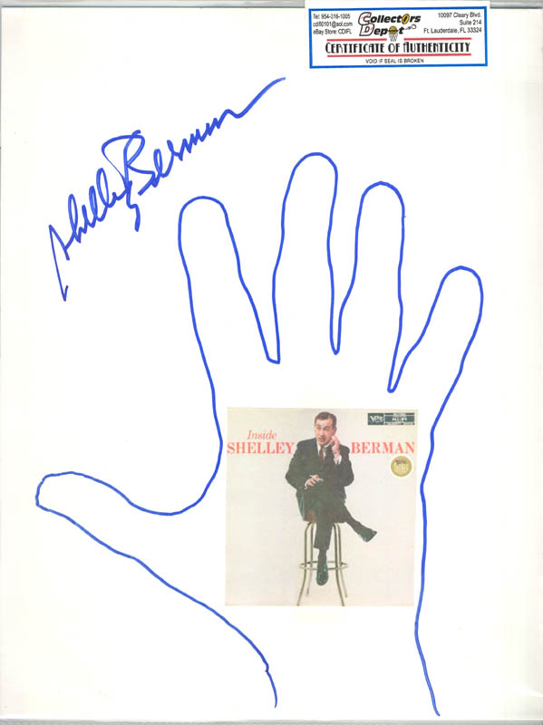 Image 1 for Shelley Berman - Hand/Foot Print Or Sketch Signed - HFSID 286896