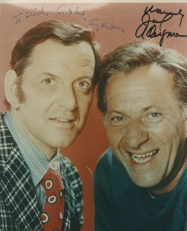 Image 1 for The Odd Couple TV Cast - Autographed Inscribed Photograph co-signed by: Jack Klugman, Tony Randall - HFSID 286925