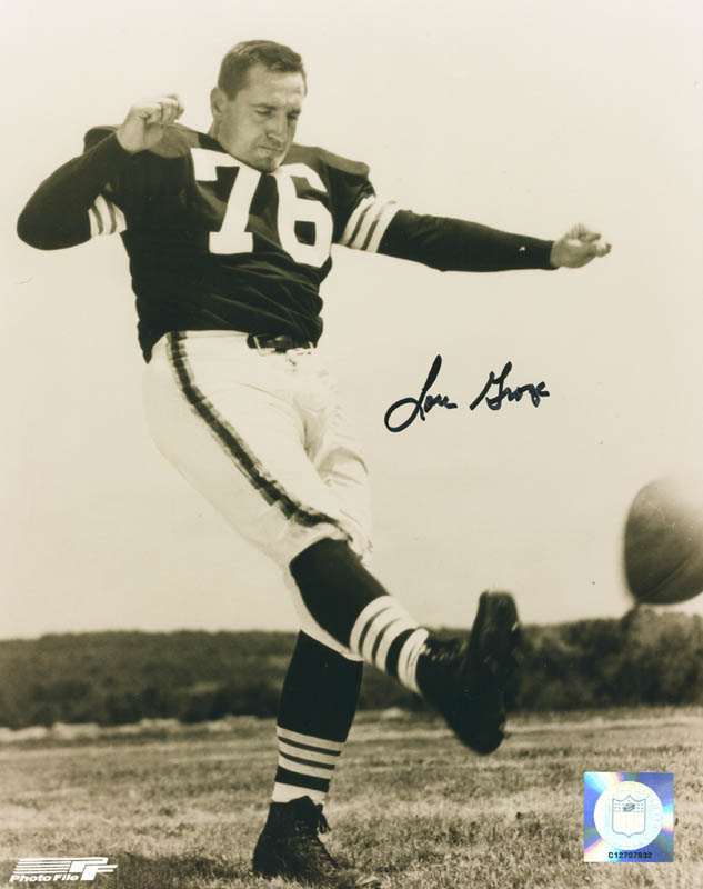 Image 1 for Lou 'The Toe' Groza - Autographed Signed Photograph - HFSID 286981
