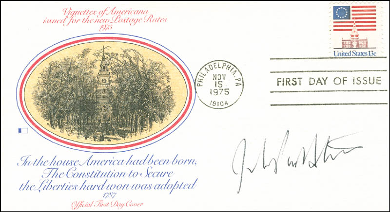 Image 1 for Associate Justice John Paul Stevens - First Day Cover Signed - HFSID 287098