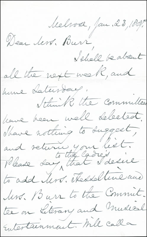 Image 3 for Mary A. Livermore - Autograph Letter Signed 01/23/1887 - HFSID 287122