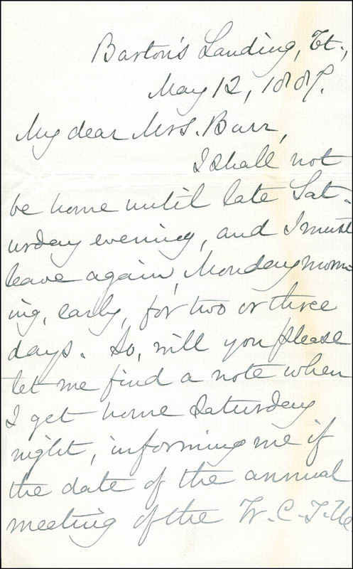 Image 3 for Mary A. Livermore - Autograph Letter Signed 05/12/1887 - HFSID 287123
