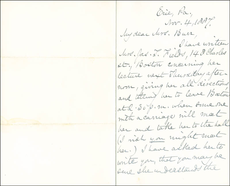 Image 3 for Mary A. Livermore - Autograph Letter Signed 11/04/1887 - HFSID 287124