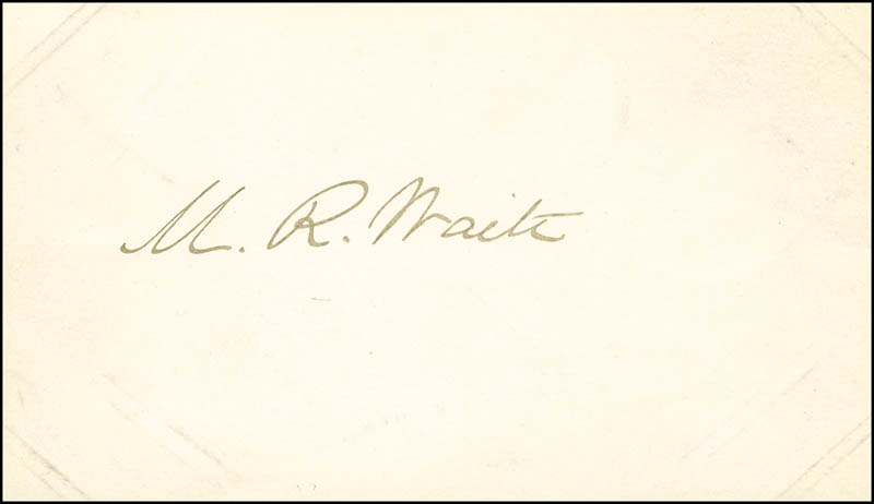 Image 1 for Chief Justice Morrison R. Waite - Autograph - HFSID 287157