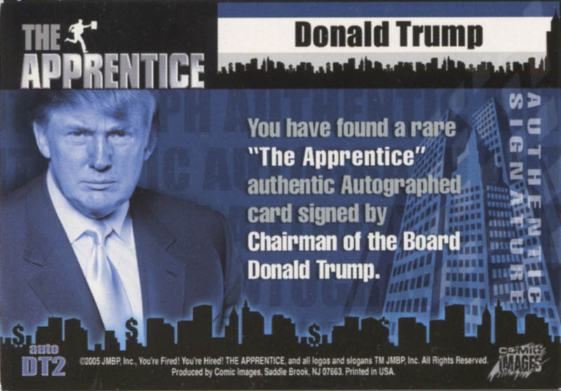 Image 3 for Donald J. Trump - Trading/Sports Card Signed - HFSID 287173