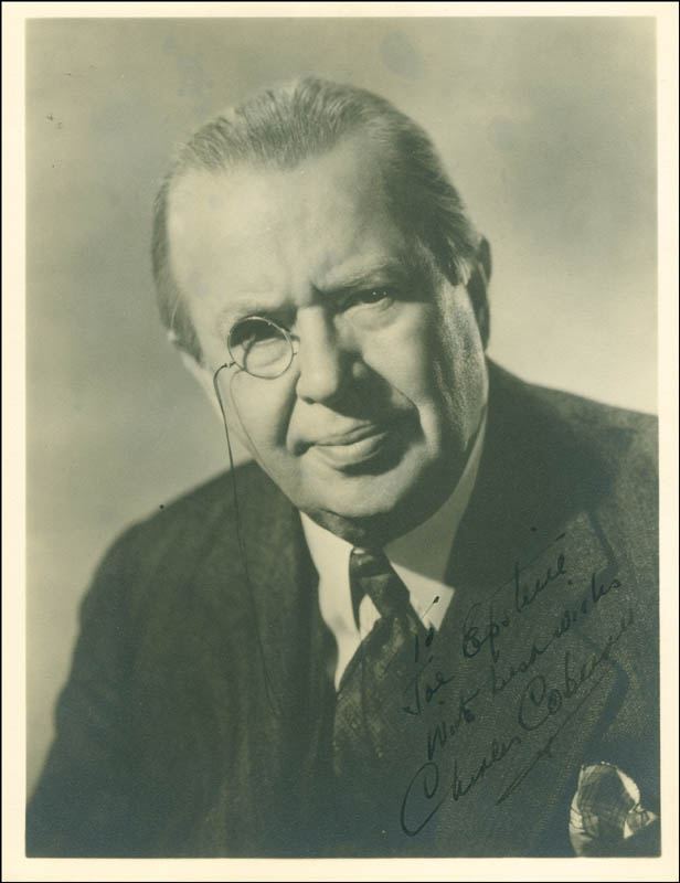 Image 1 for Charles D. Coburn - Autographed Inscribed Photograph - HFSID 287451