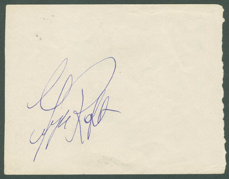Image 1 for George Raft - Autograph co-signed by: Sir Ralph Richardson - HFSID 287472