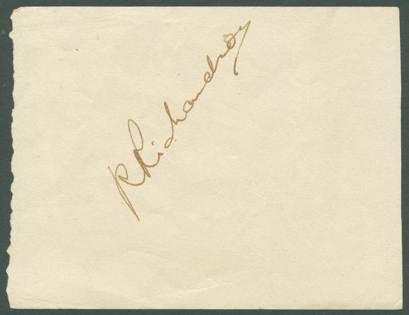 Image 3 for George Raft - Autograph co-signed by: Sir Ralph Richardson - HFSID 287472