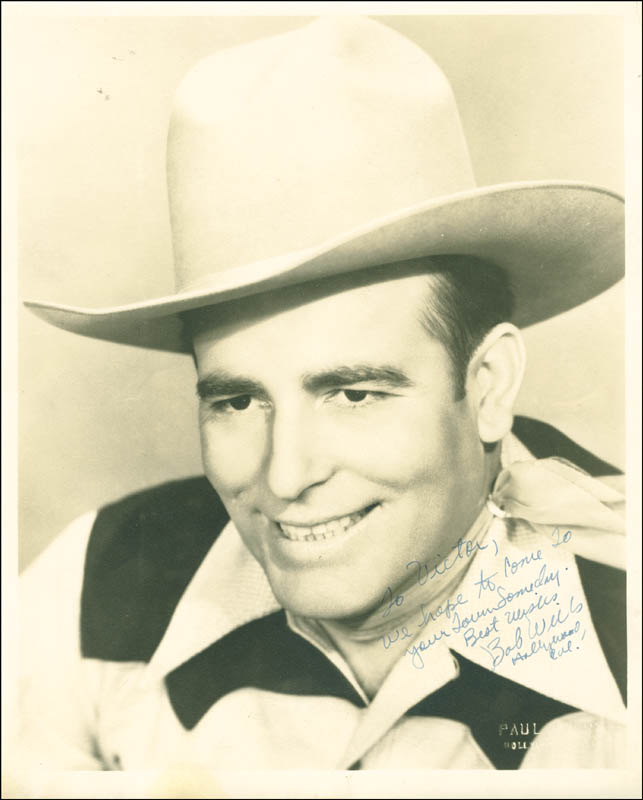 Image 1 for Bob Wills - Autographed Inscribed Photograph - HFSID 287480
