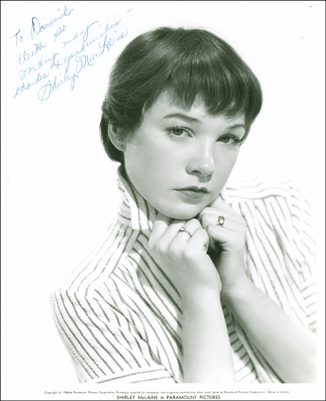 Image 1 for Shirley Maclaine - Autographed Inscribed Photograph - HFSID 287486