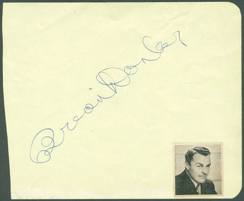 Image 1 for Brian Donlevy - Autograph - HFSID 287532