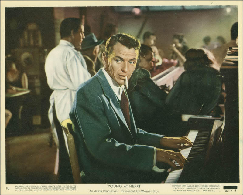 Image result for young at heart movie and sinatra playing piano""