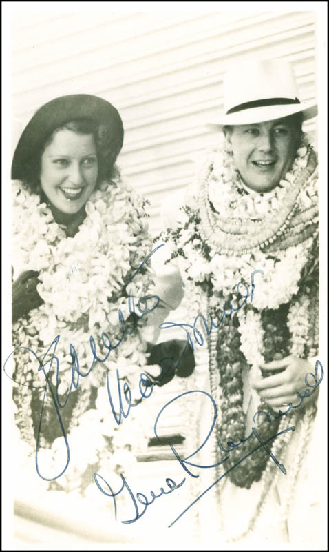 Image 1 for Jeanette Macdonald - Autographed Signed Photograph co-signed by: Gene Raymond - HFSID 287635