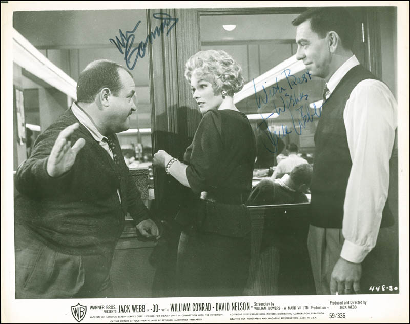 Image 1 for -30- Movie Cast - Printed Photograph Signed In Ink co-signed by: Jack Webb, William Conrad - HFSID 287702