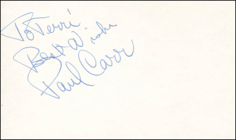 Image 1 for Paul Carr - Autograph Note Signed - HFSID 287719
