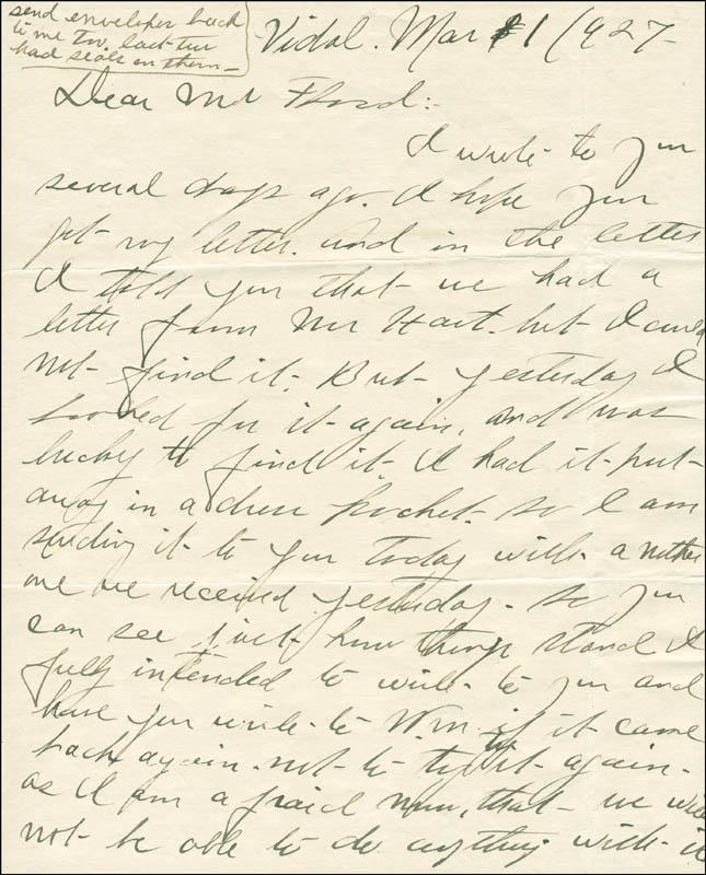 Image 3 for Josephine 'Josie' Earp - Autograph Letter Signed - HFSID 287779