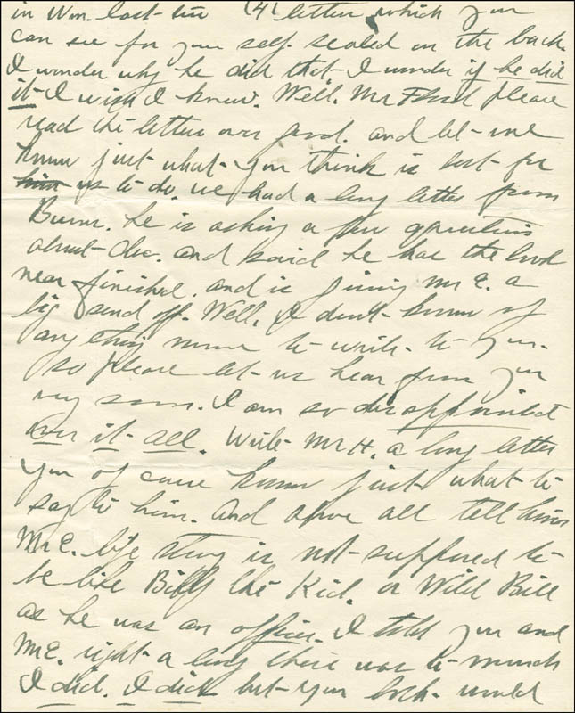 Image 5 for Josephine 'Josie' Earp - Autograph Letter Signed - HFSID 287779