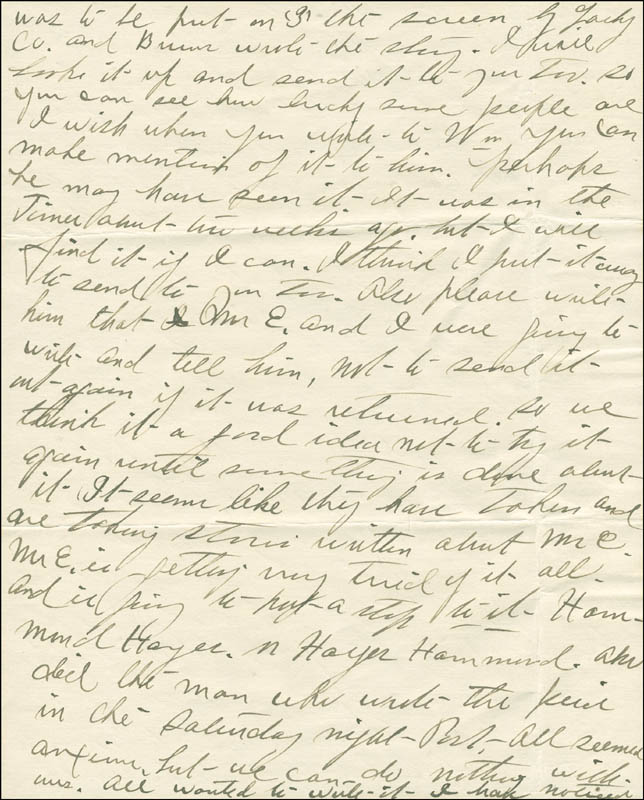 Image 6 for Josephine 'Josie' Earp - Autograph Letter Signed - HFSID 287779