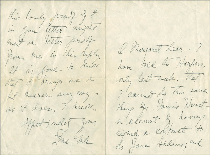 Image 1 for Zona Gale - Autograph Letter Signed - HFSID 287826